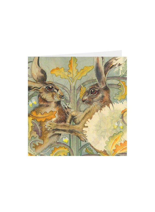 Boxing Hares square card 05