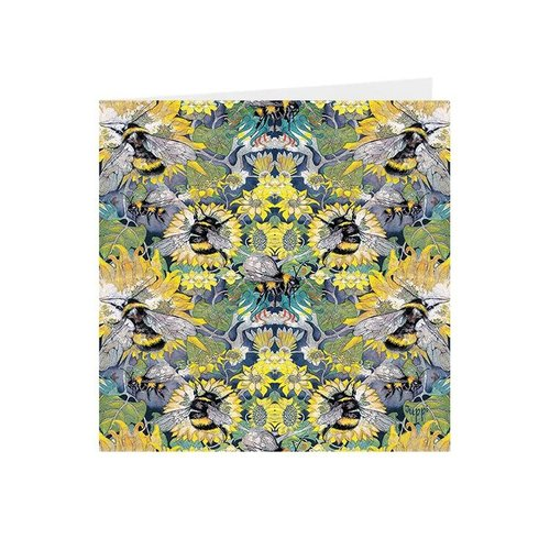 Juppi Busy Bees Kaleidoscopic square card 01