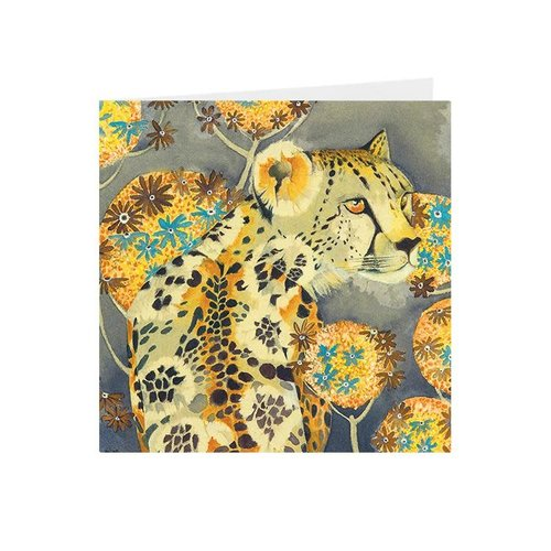 Juppi Cheetah square card 07
