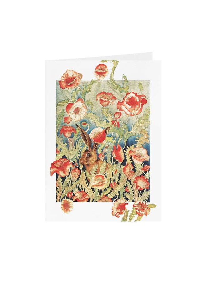 Poppies & Harecard 13