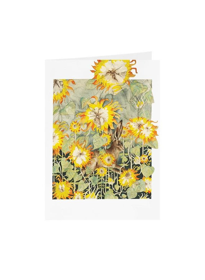 Sunflowers and Hare  card 10