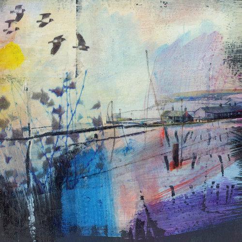 Kate Boyce Art Lapwings in Flight, Pecket Well card  05