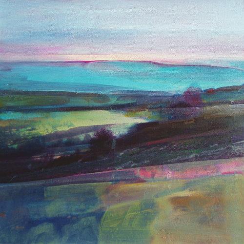 Kate Boyce Art Light Through Mist over Calder Valley card 01