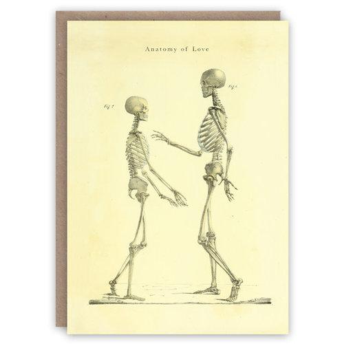 The Pattern Book Tarjeta de libro de patrones de anatomía del amor