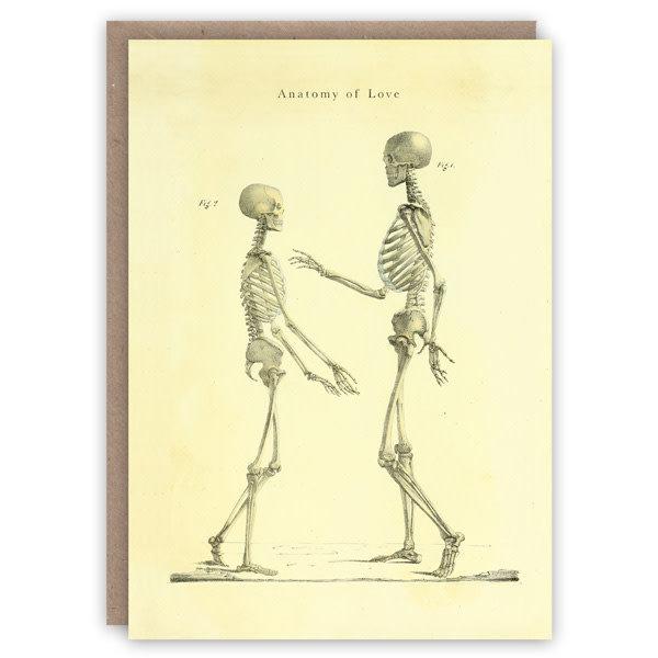 Tarjeta de libro de patrones de anatomía del amor