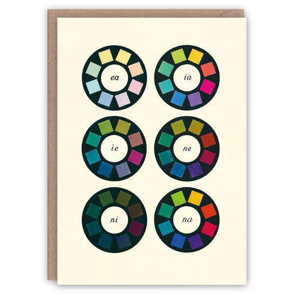 Tarjeta de libro de patrones de Color Wheels