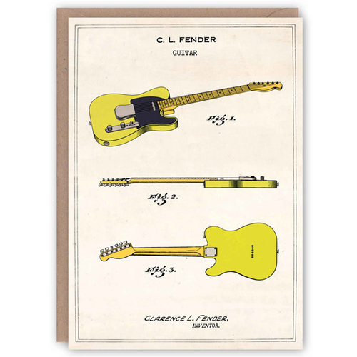 The Pattern Book Fender Telecaster Pattern Book Card