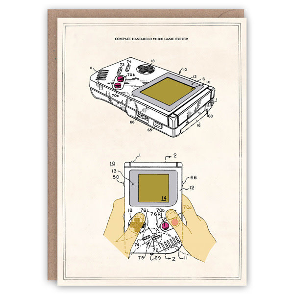 Game Boy  pattern book card