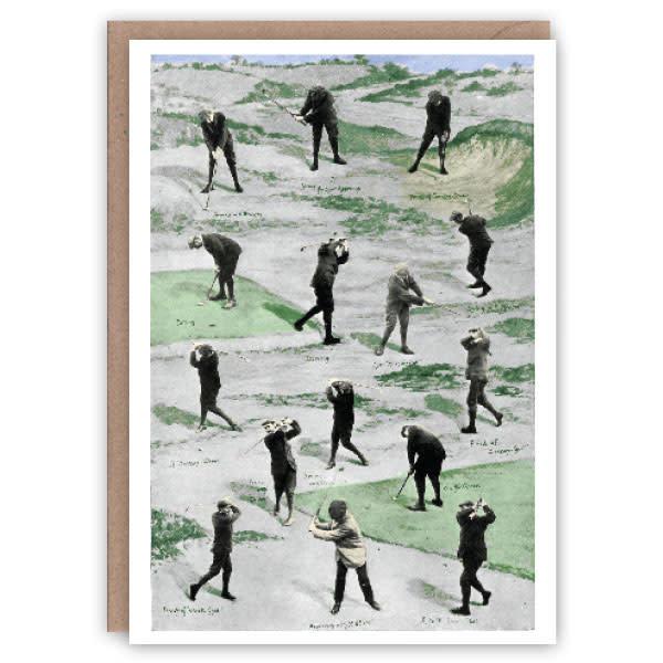 Tarjeta de libro de patrones de golf