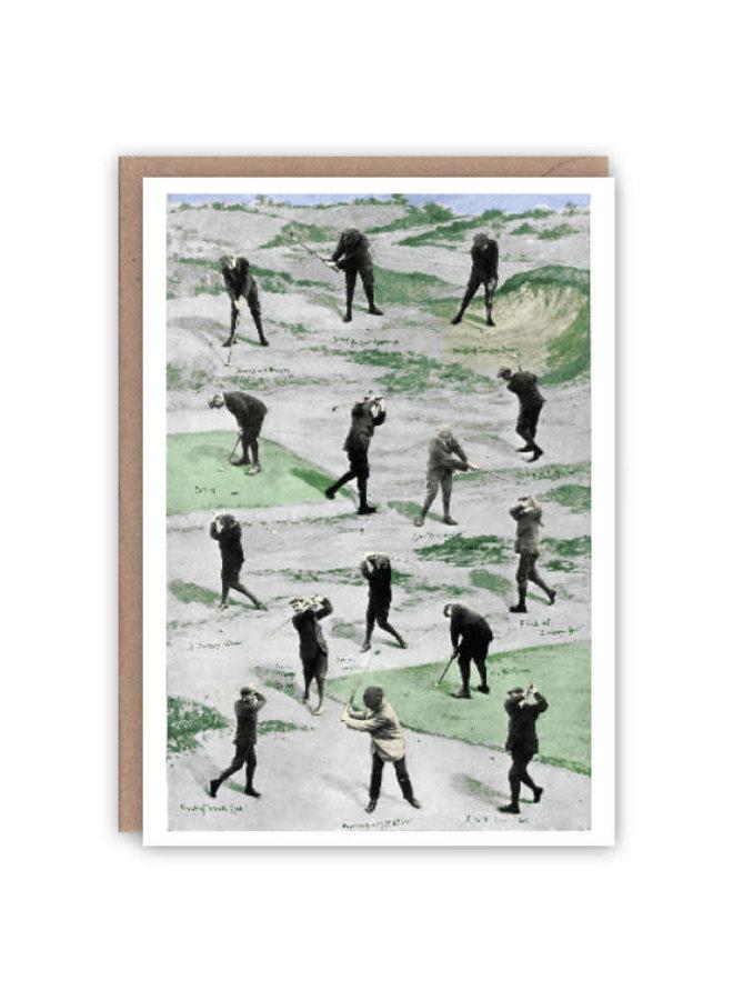 Golf Pattern Book Card