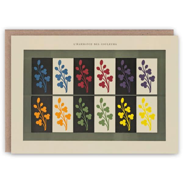 Tarjeta de libro de patrones de armonía de colores