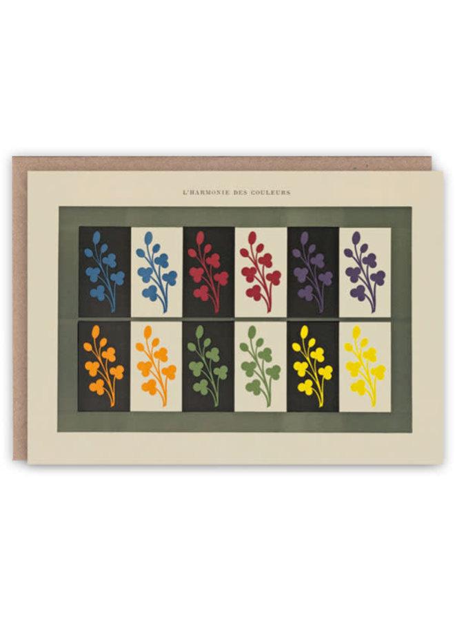 Harmonie der Farben-Muster-Buch-Karte