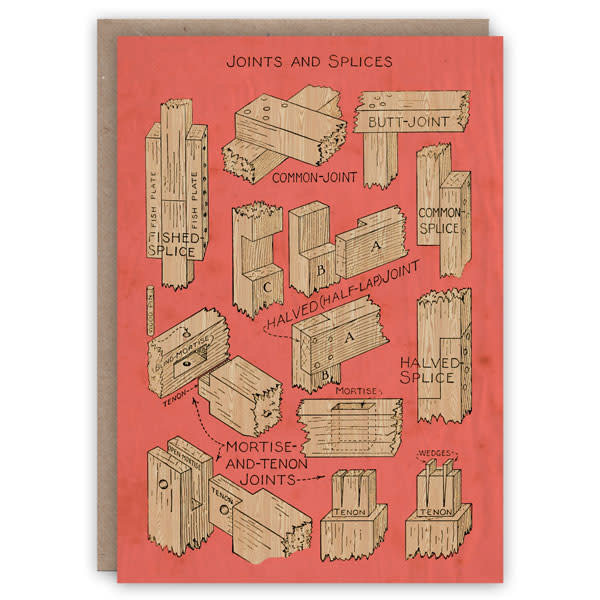 Tarjeta de libro de patrones de juntas y empalmes