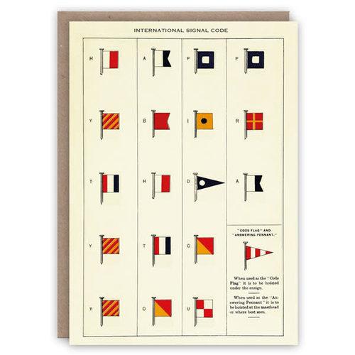 The Pattern Book Internationale Signalcode-Musterbuchkarte