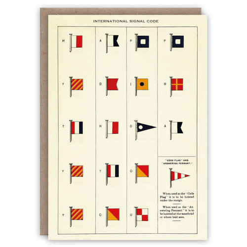 The Pattern Book Tarjeta de libro de patrones de código de señal internacional