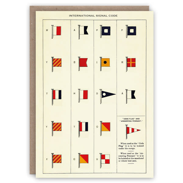 Tarjeta de libro de patrones de código de señal internacional