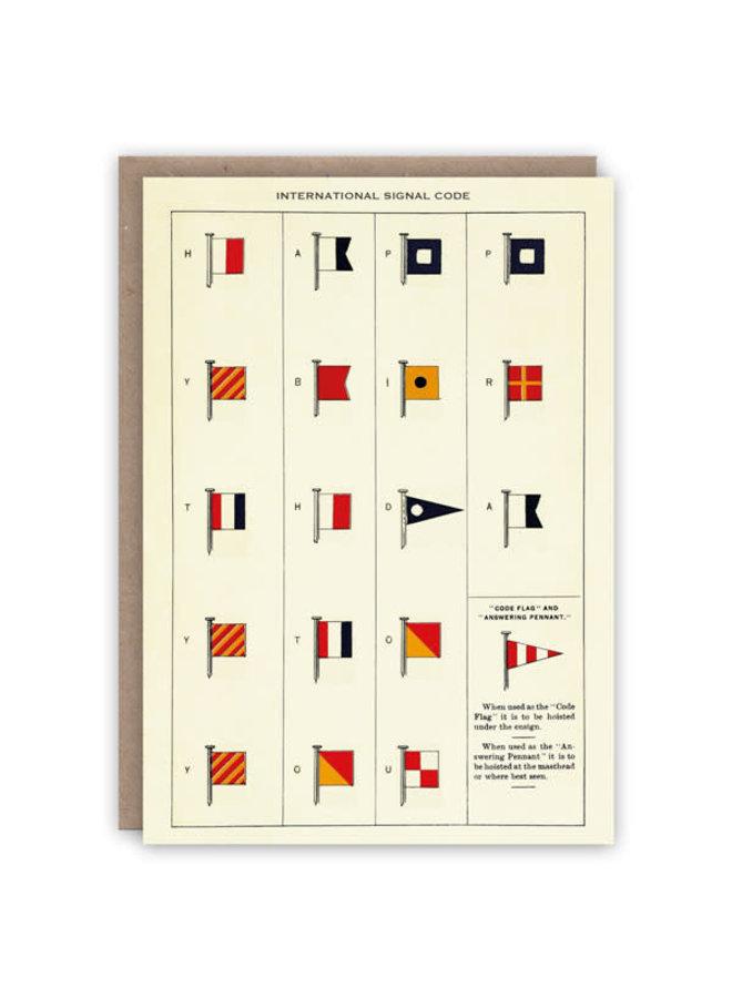 Internationale Signalcode-Musterbuchkarte