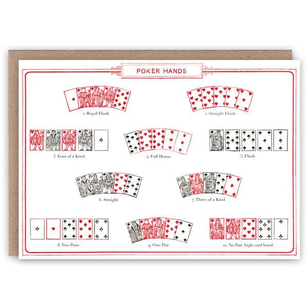 Tarjeta de libro de patrón de manos de póker