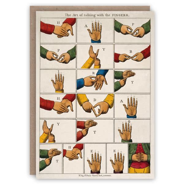 Tarjeta de libro de patrones de dedos parlantes