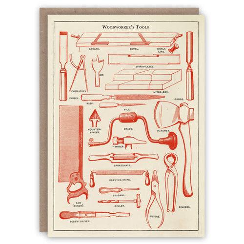 The Pattern Book Tarjeta de libro de patrones de herramientas de carpintero
