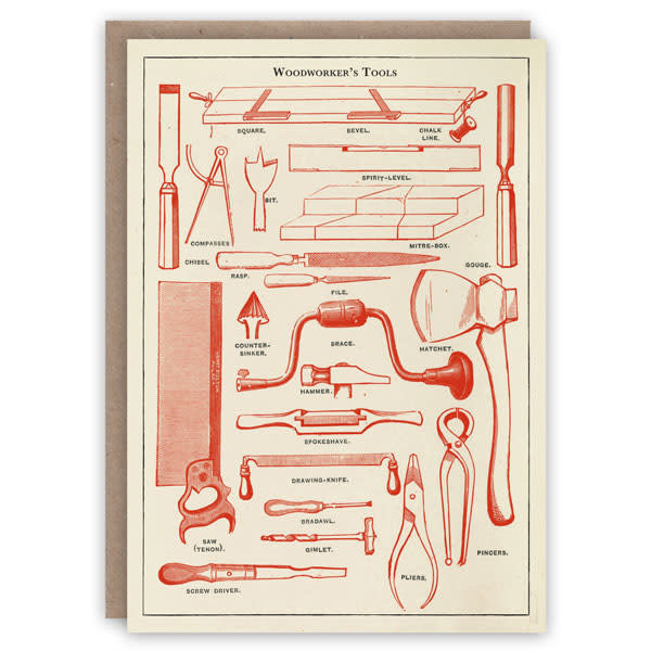 Woodworker's Tools  Pattern Book Card