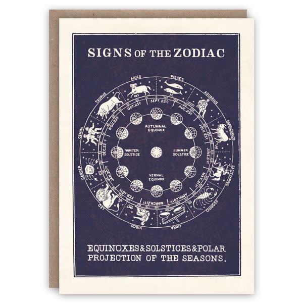 Tarjeta de libro de patrón de zodiaco