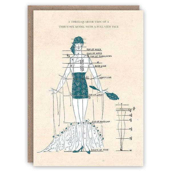 Three-Quarter View  Pattern Book Card