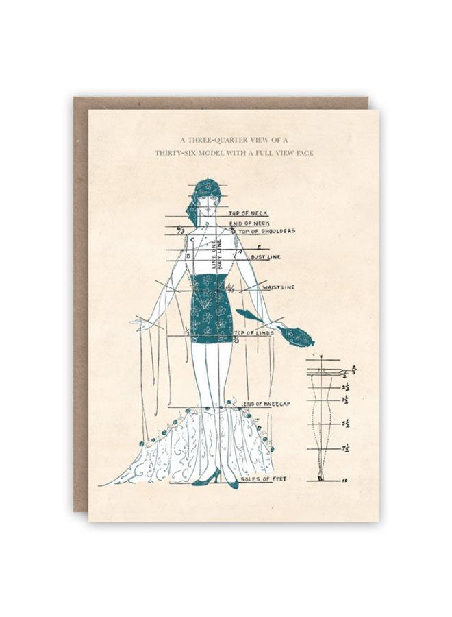 Dreiviertelansicht-Musterbuch-Karte