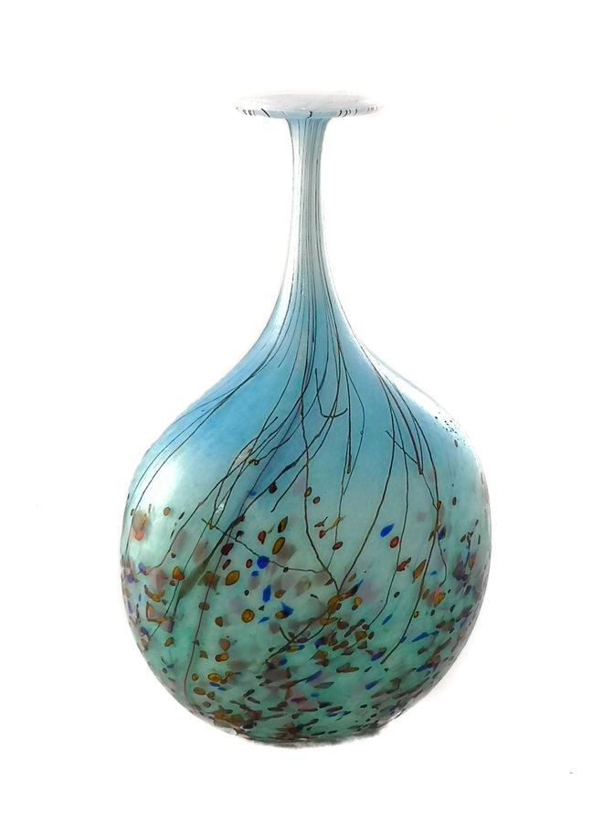 Blaue kleine Flasche der Wiesenserie 85