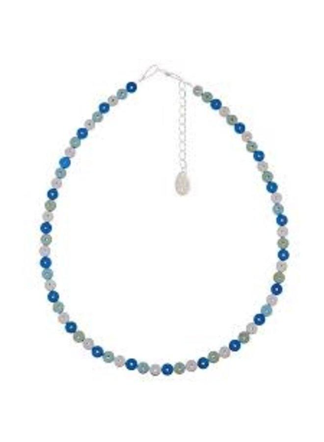 Halskette Kapsel Perle Blau -