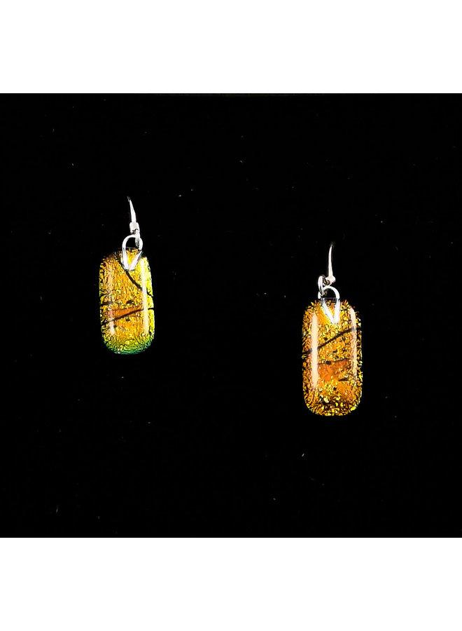 Autumne Dichroic Glass Drop Ohrringe 20