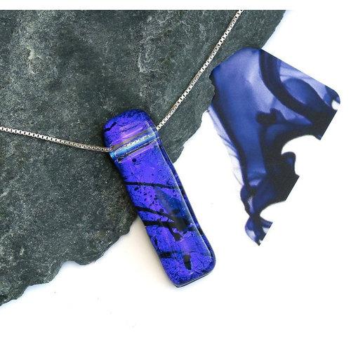Mere Glass Dichroic Glass Pendant Deep Purple Liliput  04
