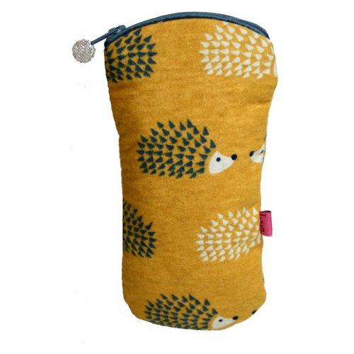 LUA Hedgehog Printed Cotton Glases case Mustard 201