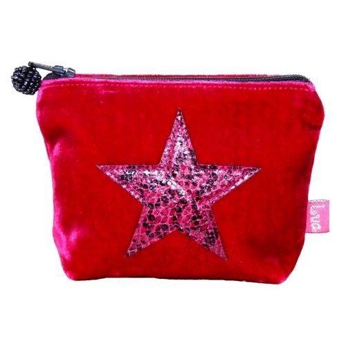LUA Mini monedero de piel de serpiente Star Velvet Pink 212