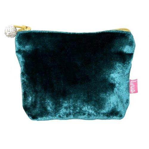 LUA Mini  Velvet Purse Dark Turquoise 216
