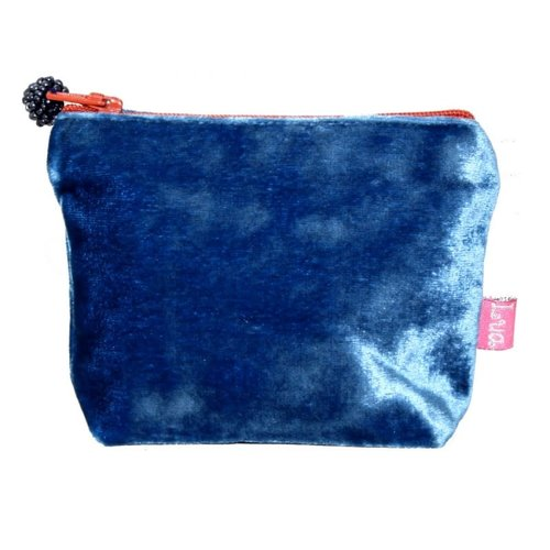 LUA Mini  Velvet Purse Cobalt Blue 218