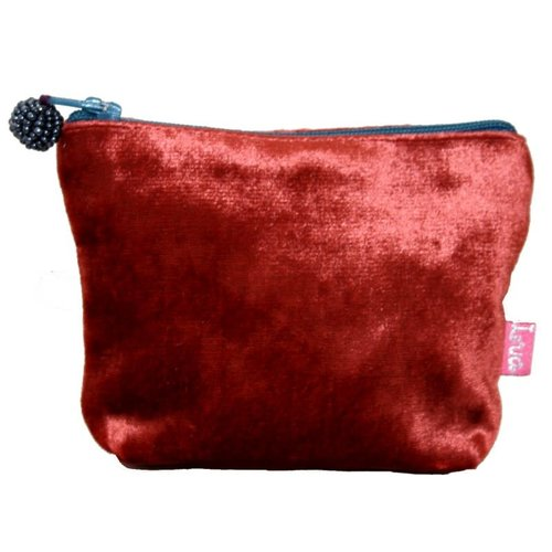 LUA Mini Velvet Purse Rust 220