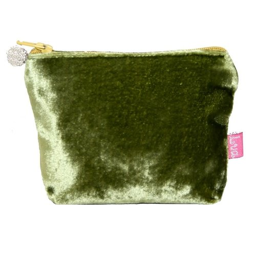 LUA Mini Velvet Purse Olive 221