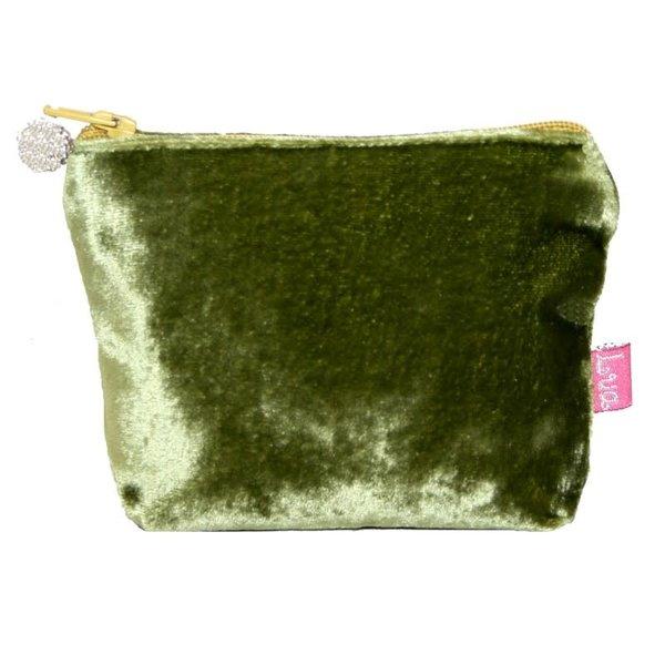 Mini Velvet Purse Olive 221
