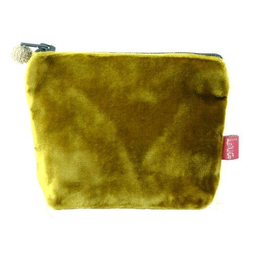 LUA Mini  Velvet Purse Mustard 222