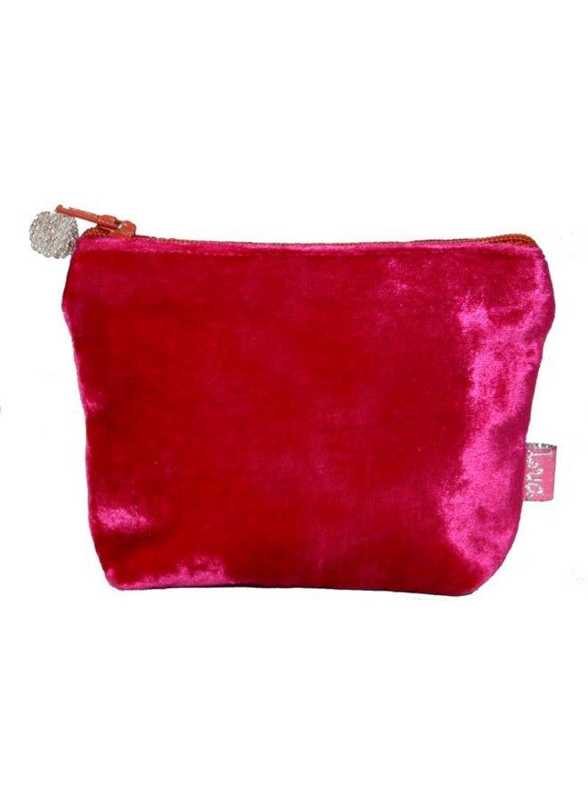Mini Velvet Purse Hot Pink 224