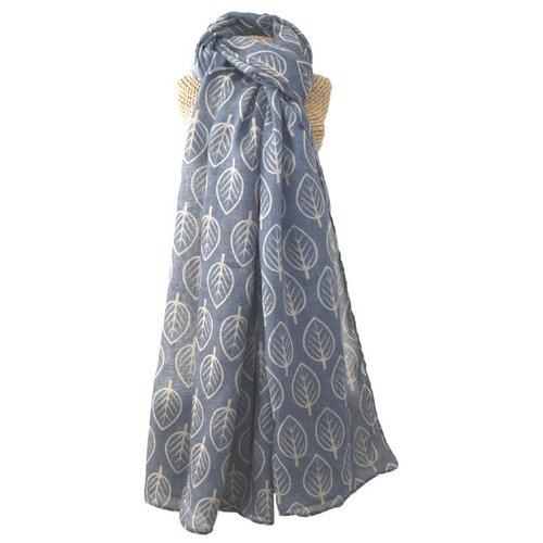 LUA Leaves scarf  blue 241
