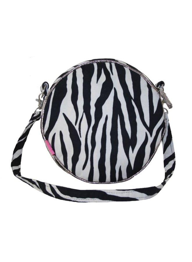 Runde Gurttasche mit Zebradruck 235