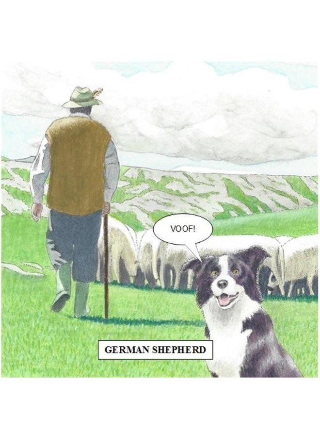 German Shepherd Humorous card 19