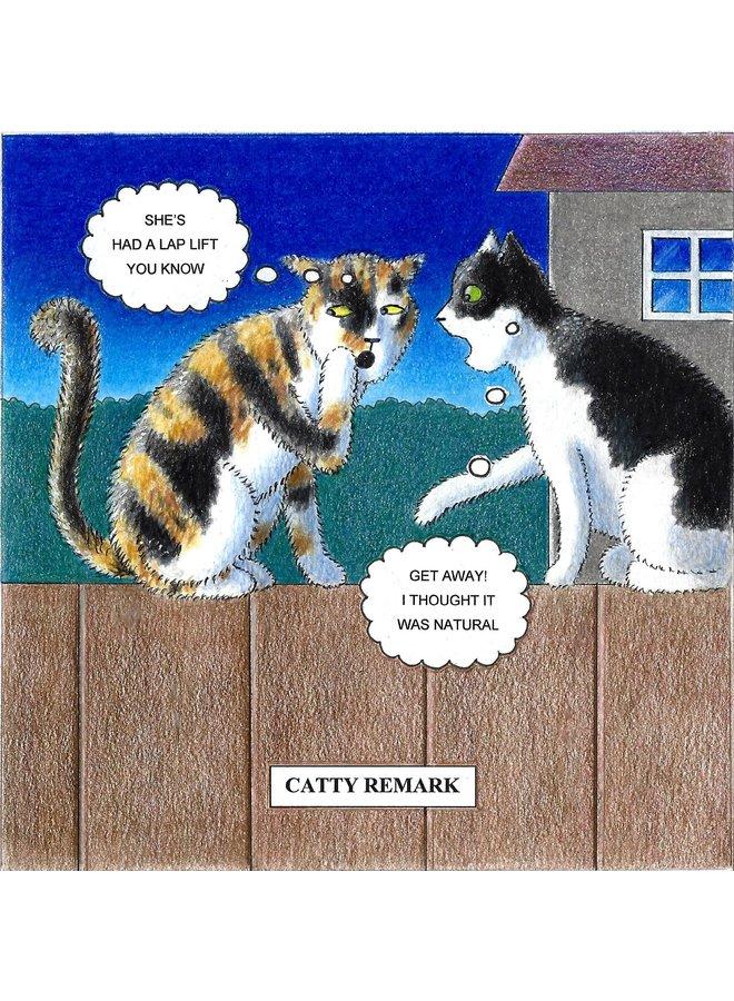 Catty Remark  Humorous Cat card 11