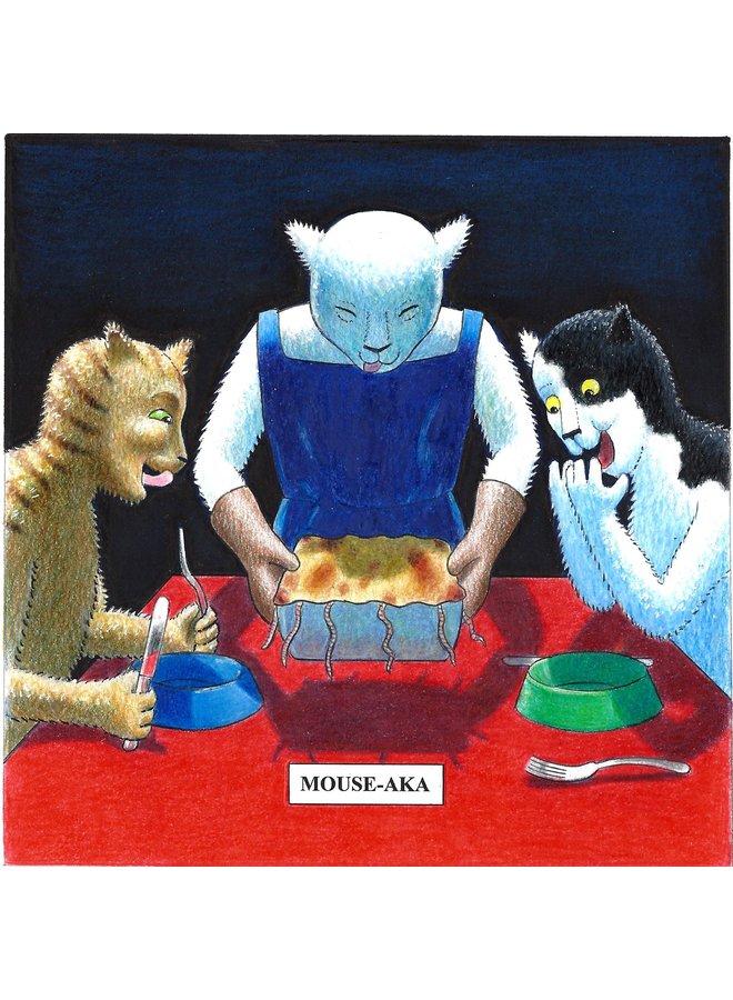 Mouse-Aka  Humorous Cat card 09