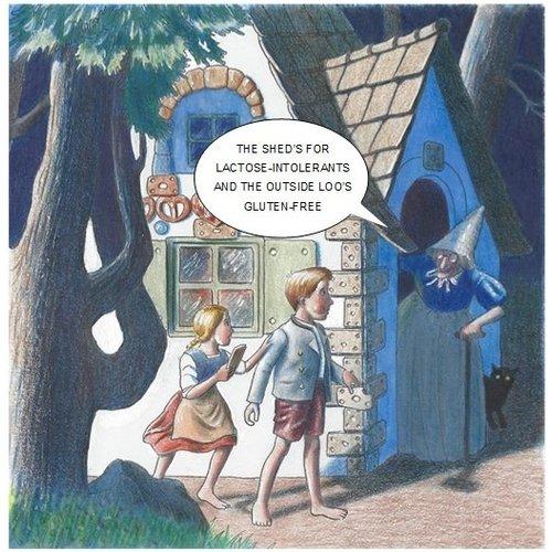 Adrian Keefe Handsel & Gretel Humorous card 07