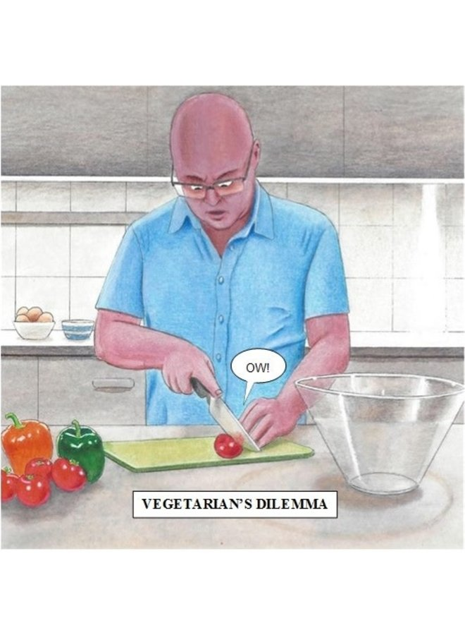 Vegetarian's Dilemma Humorous card 03