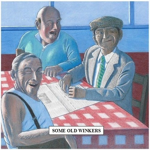 Adrian Keefe Some Old Winkers Humorous card 02