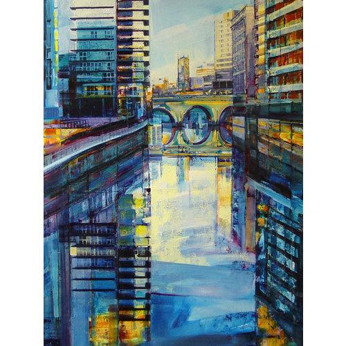 Kate Boyce Art Der Fluss Irwell, Manchester drucken 25